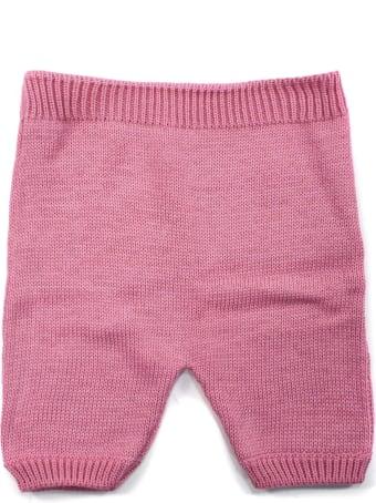 Little Bear Pink Cotton Trousers