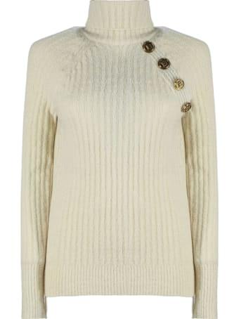 Balmain White Wool/silk-blend  Jumper