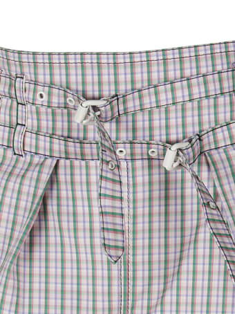 Philosophy di Lorenzo Serafini Double-belted Check Shorts