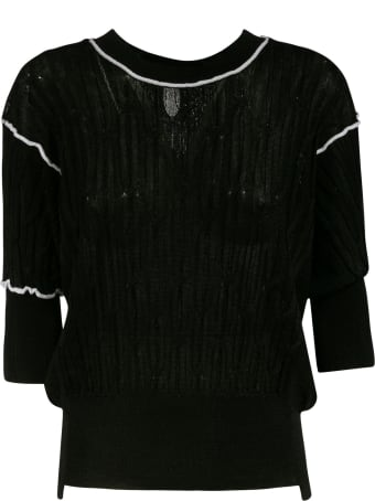 Maison Flaneur Ribbed Cropped Jumper