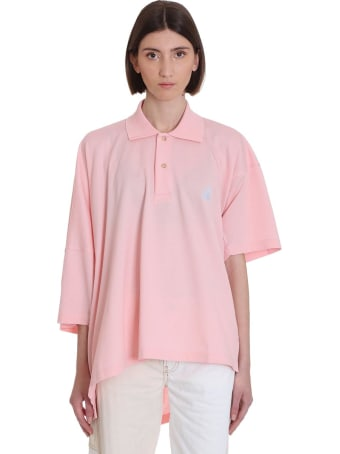 Lanvin Polo In Rose-pink Cotton