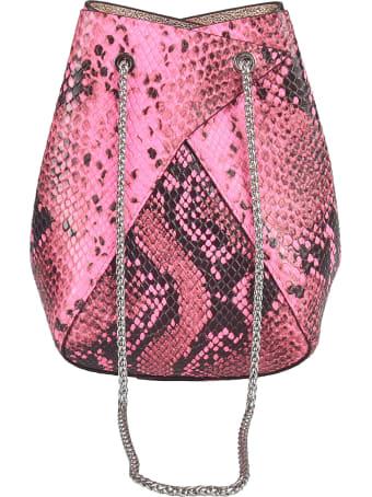 the VOLON Snake-skin Effect Bucket Bag