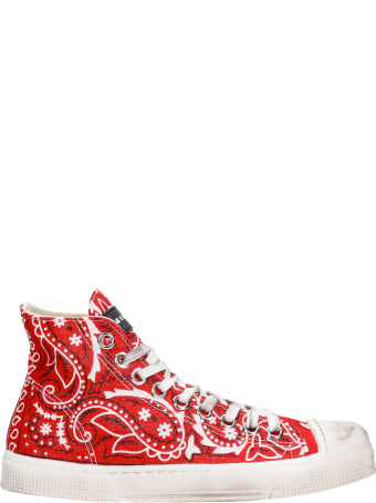Gienchi J.m High Sneakers In Red Synthetic Fibers