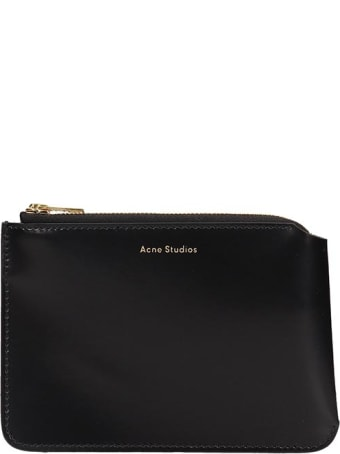 Acne Studios Malachite Wallet In Black Leather