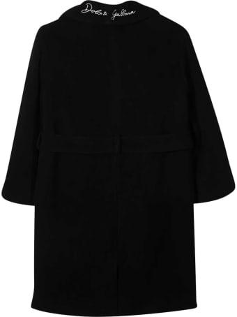 Dolce & Gabbana Black Coat Dolce&gabbana Kids