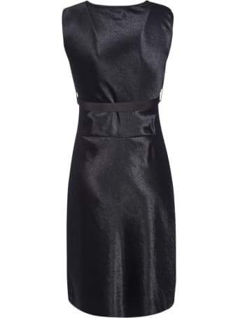 HERON PRESTON Sleeveless Satin Dress
