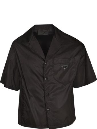 Prada Chest Logo Plaque Shirt