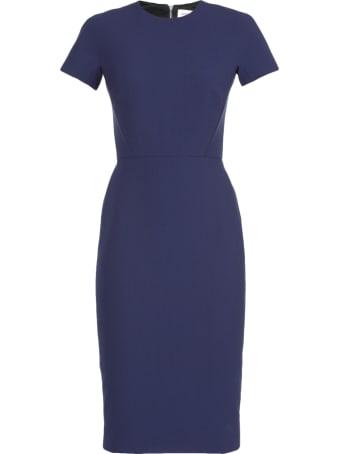 Victoria Beckham Fitted T-shirt Dress In Indigo