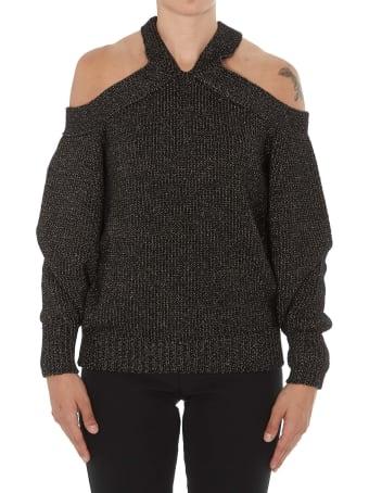 (nude) Off Shoulders Sweater