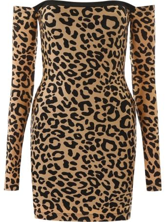 Halpern Animalier Mini Dress