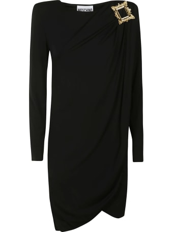 Moschino Draped Embellished Dress