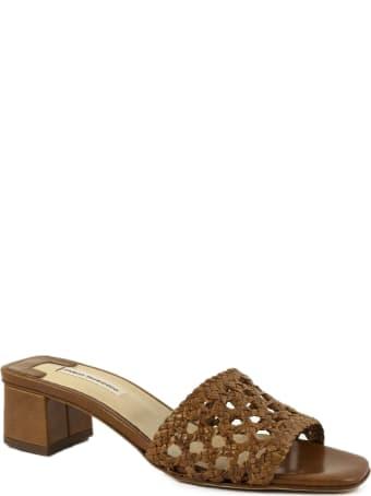Fabio Rusconi Brown Leather Sandal