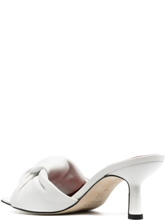 "BY FAR ""lana"" White Leather Mules"