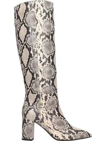 Janet & Janet High Heels Boots In Animalier Leather