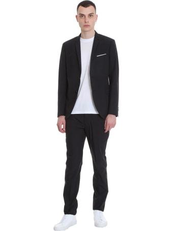 Neil Barrett Dress In Black Cotton