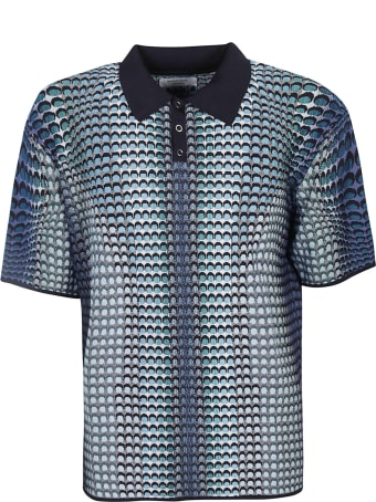 Marine Serre Pattern Print Regular Polo Shirt