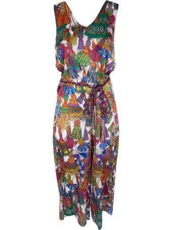 Shirt a Porter Tassel Print Dress