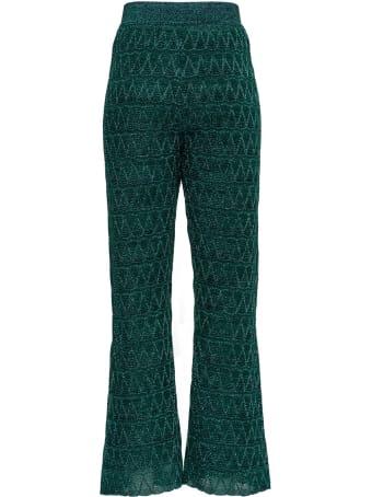 M Missoni Flared Trousers In Lurex Knit