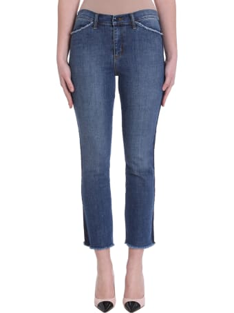 Tory Burch Harley Blue Stretch Cotton  Jeans