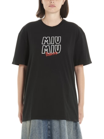 Miu Miu 'forever Miu Miu' T-shirt