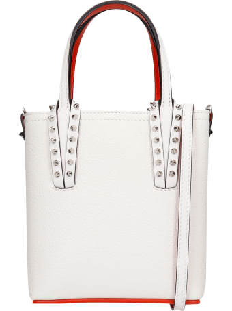 Christian Louboutin Cabata Hand Bag In White Leather