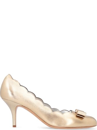 Salvatore Ferragamo Carla Laminated Leather Pumps