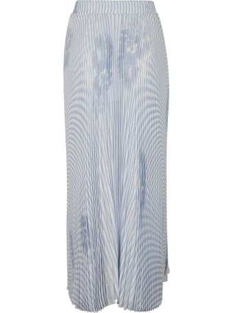Ermanno Scervino Asymmetric Stripe Pleated Skirt