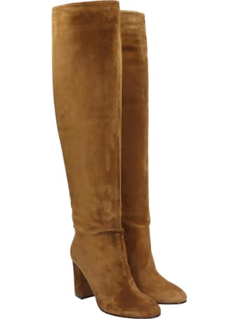 Le Silla High Heels Boots In Leather Color Suede