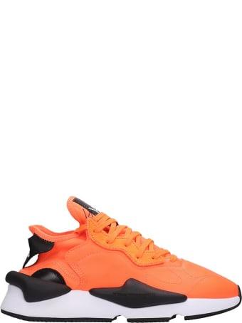 Y-3 Kaiwa Sneakers In Orange Leather