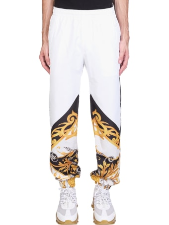 Versace Pants In White Polyester