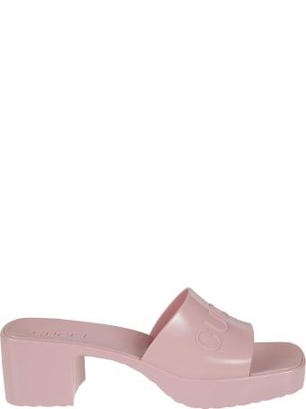 Gucci Block Heel Slide-on Sandals