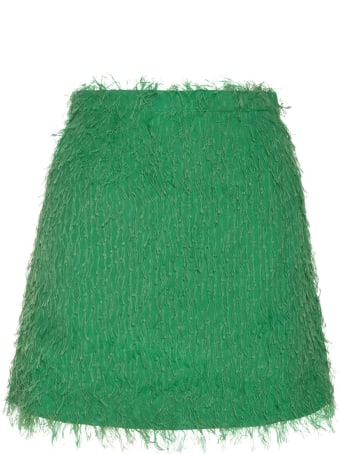 Amotea Baby Mini Skirt In Green Fil Coupe'