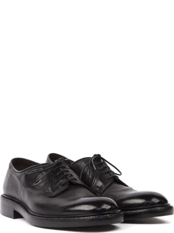 Green George Black Calf Leather Lace-up Shoes