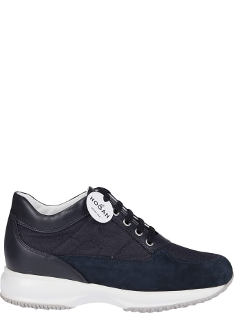 Hogan Blue Leather Interactive Sneakers