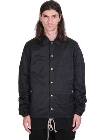 DRKSHDW Snapfront Jkt Casual Jacket In Black Cotton
