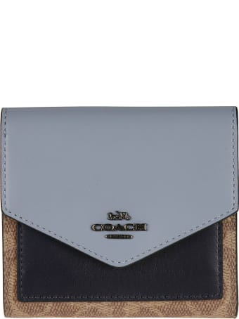 Coach Logo Plaque French Wallet