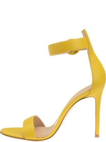 Gianvito Rossi Portofino 105 Yellow Sandal