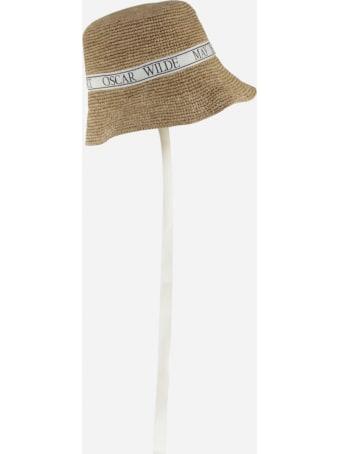 J.W. Anderson Bucket Hat In Woven Raffia