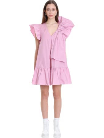 RED Valentino Dress In Rose-pink Cotton