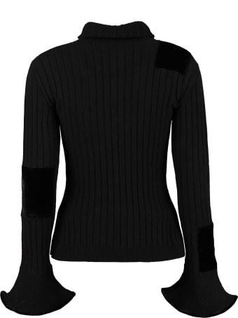 Cecilie Bahnsen Misha Ribbed Turtleneck Sweater