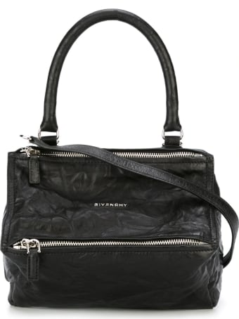 Givenchy Small Pandora Bag In Aged Black Leather