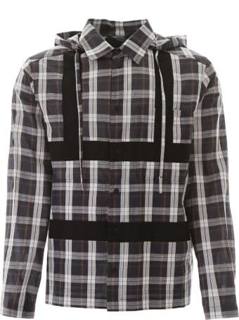 Craig Green Hooded Tartan Shirt