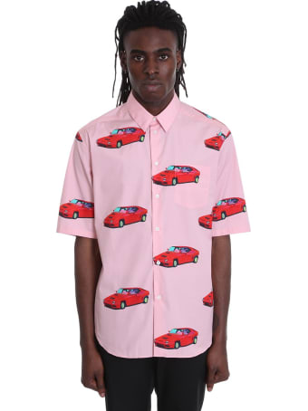 Versace Shirt In Rose-pink Cotton