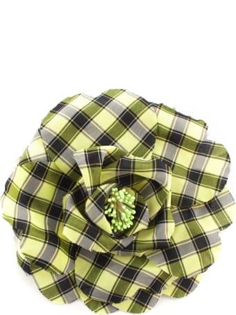 Philosophy di Lorenzo Serafini Oversize Flower Bijoux Brooch In Taffeta