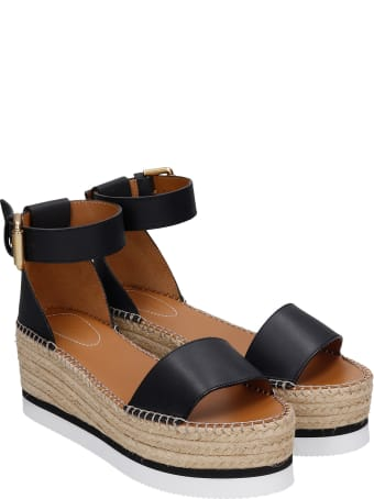 See by Chloé Glyn Espadrilles In Black Leather