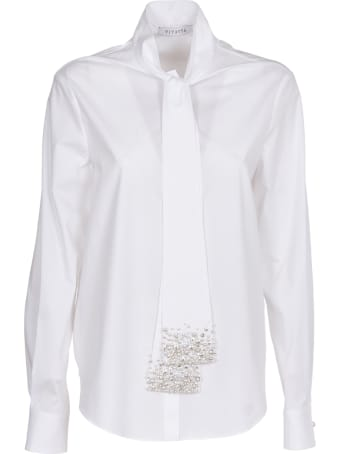 Vivetta White Shirt With Pearl Embroidery