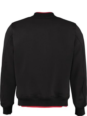 Alexander McQueen Embroidered Wool Bomber Jacket