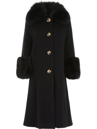 Saks Potts Yvonne Coat With Fur