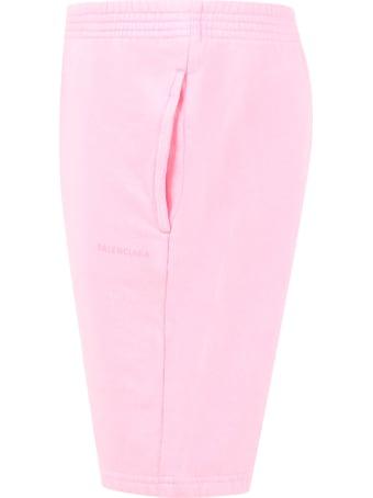 Balenciaga Pink Short For Girl With Logo