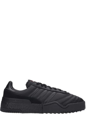 Adidas Originals by Alexander Wang Bball Soccer Sneakers In Black Leather